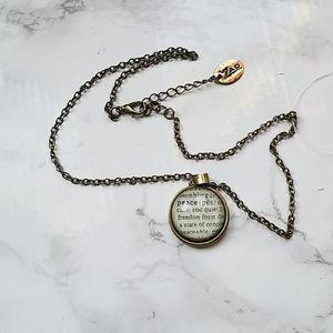 Zad peace definition pendant bronze necklace